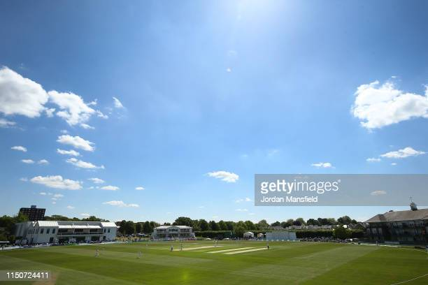 General view of play during day two of the Specsavers County Championship Division One match between Kent and Surrey on May 21, 2019 in Beckenham,...