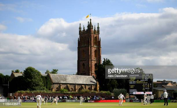 A general view of play during Day Two of the Specsavers County Championship Division One match between Somerset and Hampshire at The Cooper...
