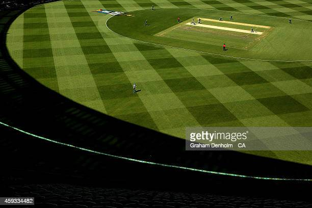 A general view of play during game four of the One Day International series between Australia and South Africa at Melbourne Cricket Ground on...