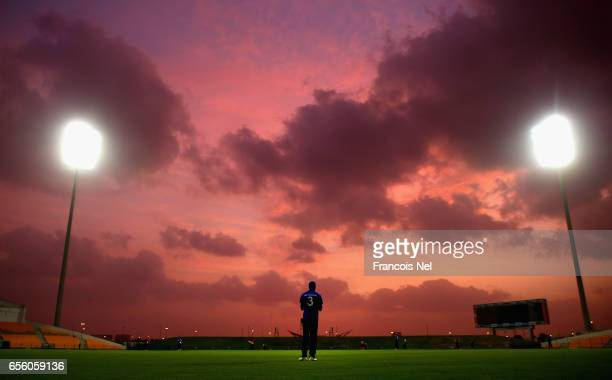A general view of play during Game Three of the ECB North versus South Series at Zayed Stadium on March 21 2017 in Abu Dhabi United Arab Emirates