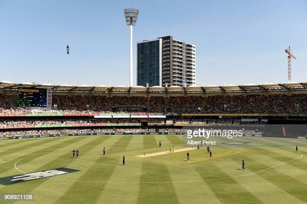 General view of play during game two of the One Day International Series between Australia and England at The Gabba on January 19 2018 in Brisbane...