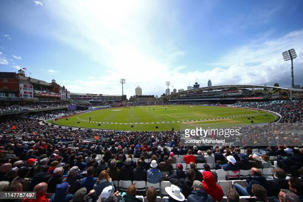 General view of play during the 1st Royal London ODI between England and Pakistan at The Kia Oval on May 08, 2019 in London, England.