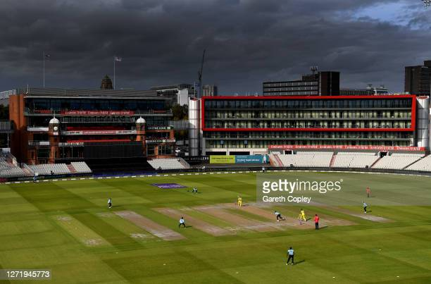 General view of play during the 1st Royal London One Day International Series match between England and Australia at Emirates Old Trafford on...