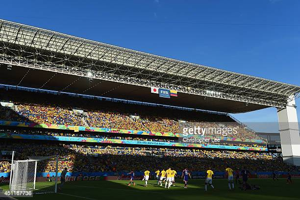 A general view of play during the 2014 FIFA World Cup Brazil Group C match between Japan and Colombia at Arena Pantanal on June 24 2014 in Cuiaba...