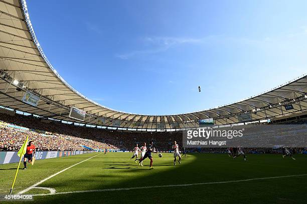 A general view of play during the 2014 FIFA World Cup Brazil Quarter Final match between France and Germany at Maracana on July 4 2014 in Rio de...