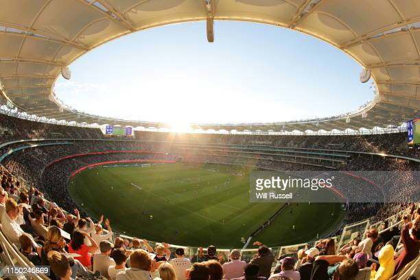 A general view of play during the 2019 ALeague Grand Final match between the Perth Glory and Sydney FC at Optus Stadium on May 19 2019 in Perth...