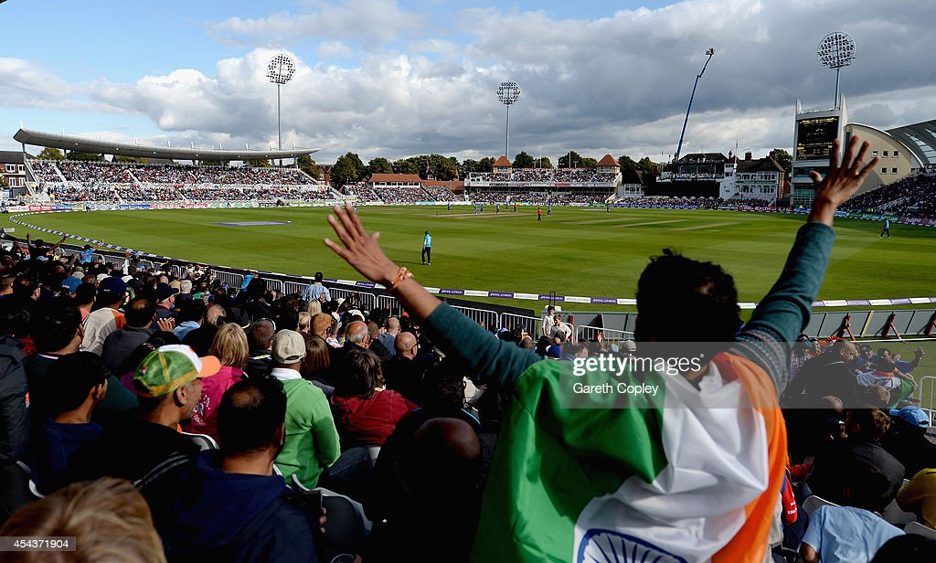 General view of play during the 3rd Royal London One-Day International match between England and India at Trent Bridge on August 30, 2014 in Nottingham, England.