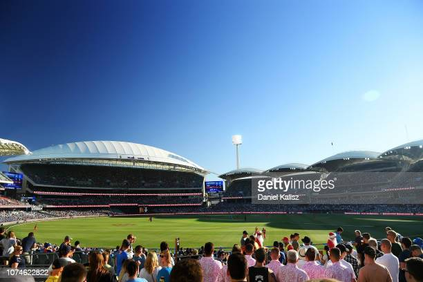 General view of play during the Adelaide Strikers v Melbourne Renegades Big Bash League Match at Adelaide Oval on December 23, 2018 in Adelaide,...