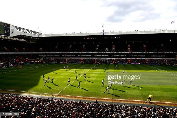 A general view of play during the Barclays Premier League match between Tottenham Hotspur and Swansea City at White Hart Lane on February 28 2016 in...