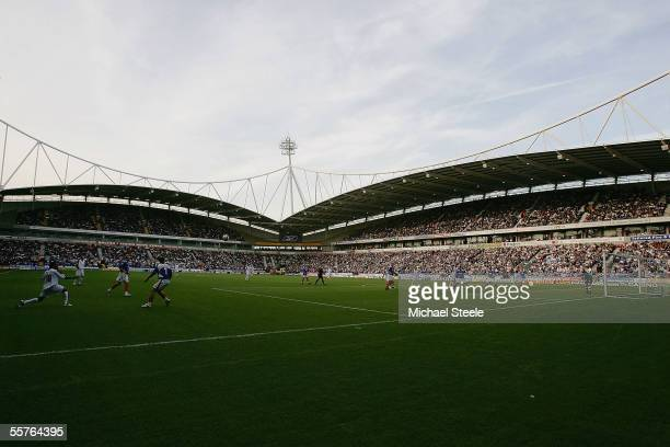 General view of play during the Barclays Premiership match between Bolton Wanderers and Portsmouth at the Reebok Stadium on September 24, 2005 in...