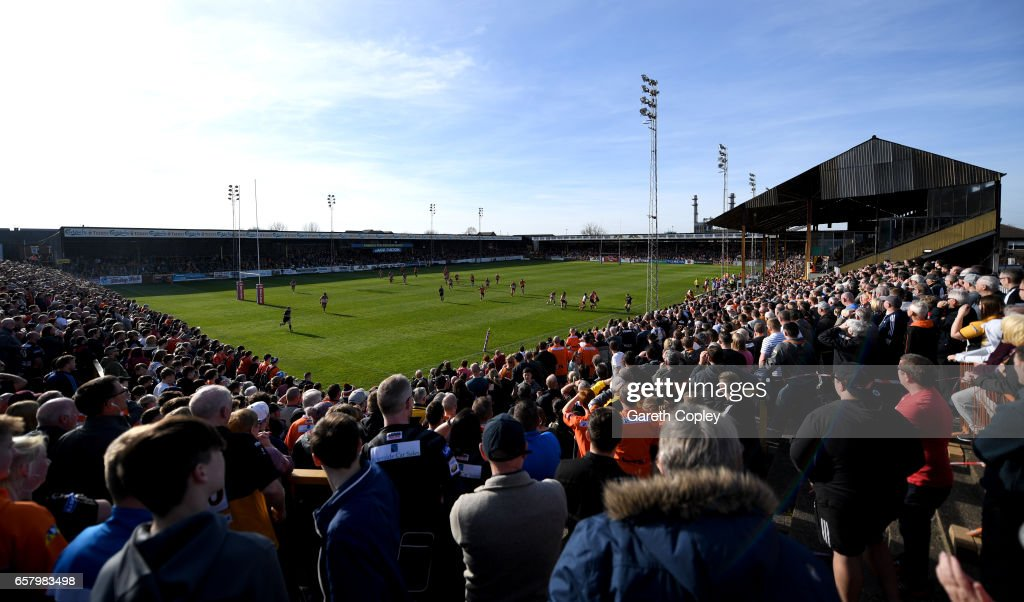 General view of play during the Betfred Super League match between Castleford Tigers and Catalans Dragons at Wheldon Road on March 26, 2017 in Castleford, England.