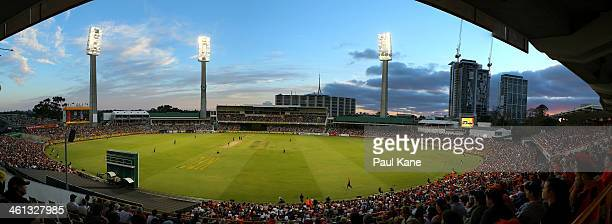 A general view of play during the Big Bash League match between the Perth Scorchers and the Hobart Hurricanes at WACA on January 7 2014 in Perth...