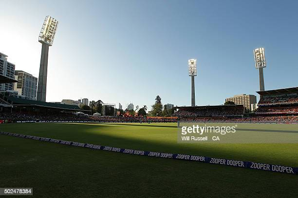 A general view of play during the Big Bash League match between the Perth Scorchers and the Brisbane Heat at WACA on December 26 2015 in Perth...