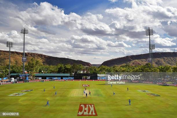 A general view of play during the Big Bash League match between the Adelaide Strikers and the Perth Scorchers at Traeger Park on January 13 2018 in...