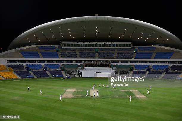 A general view of play during the Champion County match between Marylebone Cricket Club and Yorkshire at Sheikh Zayed Stadium on March 22 2015 in Abu...