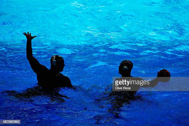 A general view of play during the classification 9th12th Place match between Brazil and South Africa on day eleven of the 16th FINA World...