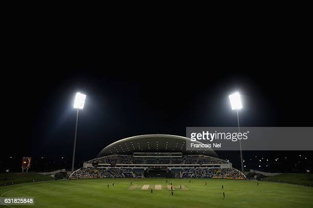 A general view of play during the Desert T20 Challenge match between Afghanistan and UAE at Sheikh Zayed Stadium on January 16 2017 in Abu Dhabi...