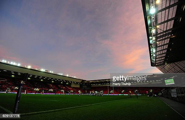 General view of play during the European Rugby Challenge Cup match between Bristol Rugby and Pau at Ashton Gate on December 11 2016 in Bristol England