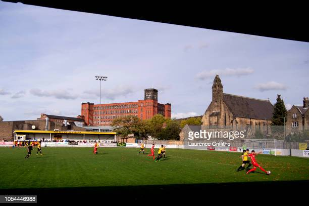 General view of play during the FA Preliminary Round match between Belper Town and Stamford on October 13, 2018 in Belper, England.
