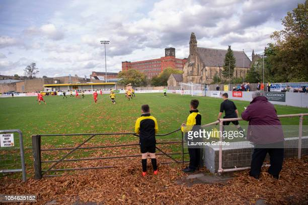 General view of play during the FA Preliminary Round match between Belper Town and Stamfordon October 13, 2018 in Belper, England.
