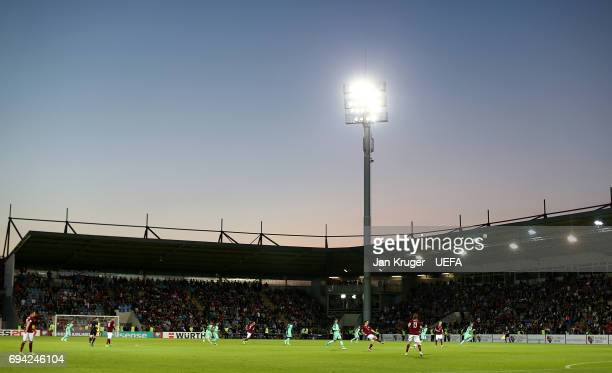 General view of play during the FIFA 2018 World Cup Qualifier between Latvia and Portugal at Skonto Stadium on June 9 2017 in Riga Latvia