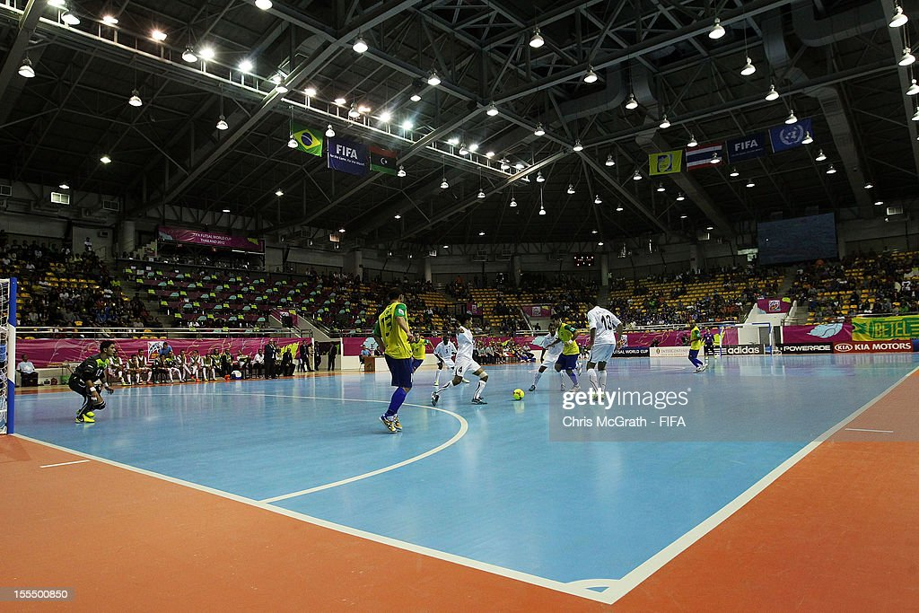 A general view of play during the FIFA Futsal World Cup, Group C match between Brazil and Libya at Korat Chatchai Hall on November 4, 2012 in Nakhon Ratchasima, Thailand.