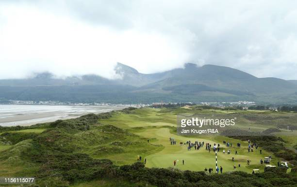 General view of play during the final match on day five of the RA Womens Amateur Championship at Royal County Down Golf Club on June 15 2019 in...
