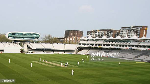A general view of play during the Fourth Day of the Four Day Game between MCC and Sussex at Lords on April 16 2007 in London England