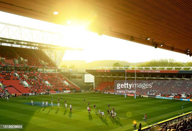 General view of play during the Gallagher Premiership Rugby match between Bristol and Gloucester at Ashton Gate on May 17, 2021 in Bristol, England....
