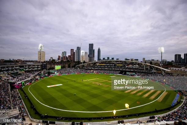 General view of play during The Hundred Eliminator match at the Kia Oval, London. Picture date: Friday August 20, 2021.