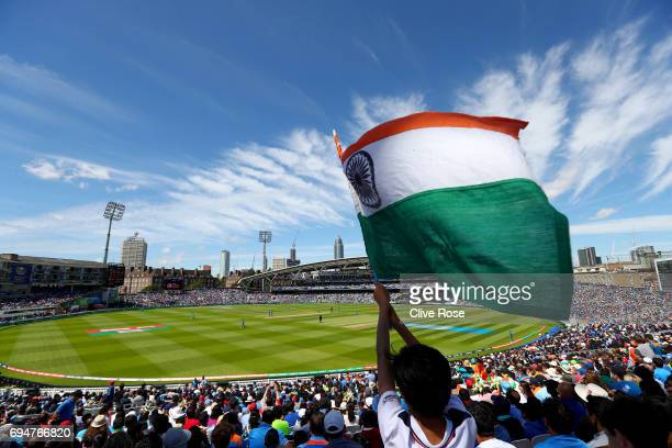 A general view of play during the ICC Champions trophy cricket match between India and South Africa at The Oval in London on June 11 2017