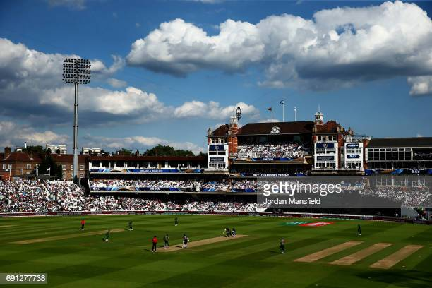 A general view of play during the ICC Champions Trophy match between England and Bangladesh at The Kia Oval on June 1 2017 in London England