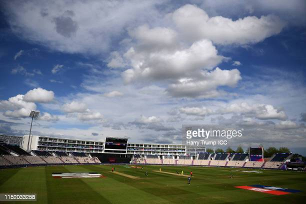 General view of play during the ICC Cricket World Cup 2019 Warm Up match between Australia and Sri Lanka at Ageas Bowl on May 27 2019 in Southampton...
