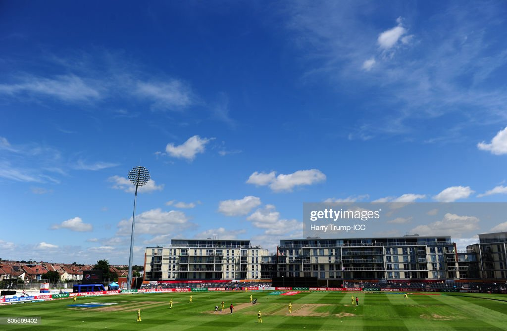 General view of play during the ICC Women's World Cup 2017 match between Australia and New Zealand at The County Ground on July 2, 2017 in Bristol, England.