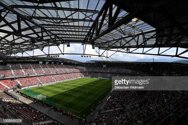 General view of play during the International Champions Cup 2018 match between Bayern Munich and Paris Saint-German at Worthersee Stadion on July 21,...