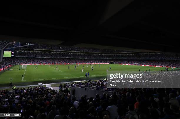 General view of play during the International Champions Cup 2018 match between Arsenal and Chelsea at the Aviva Stadium on August 1 2018 in Dublin...