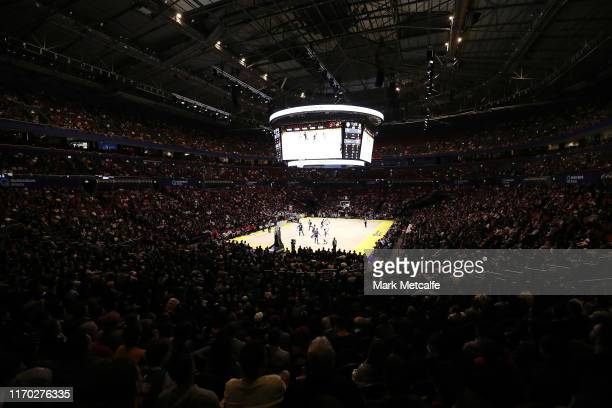 General view of play during the International Friendly Basketball match between Canada and the USA at Qudos Bank Arena on August 26, 2019 in Sydney,...