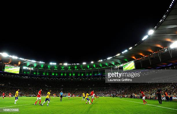 A general view of play during the International Friendly match between England and Brazil at Maracana on June 2 2013 in Rio de Janeiro Brazil