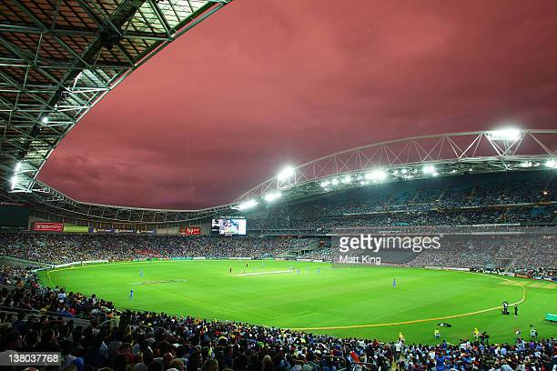 A general view of play during the International Twenty20 match between Australia and India at ANZ Stadium on February 1 2012 in Sydney Australia