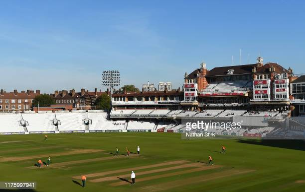 General view of play during the Kia Final match between Sessay and Hursley Park at The Kia Oval on September 20, 2019 in London, England.