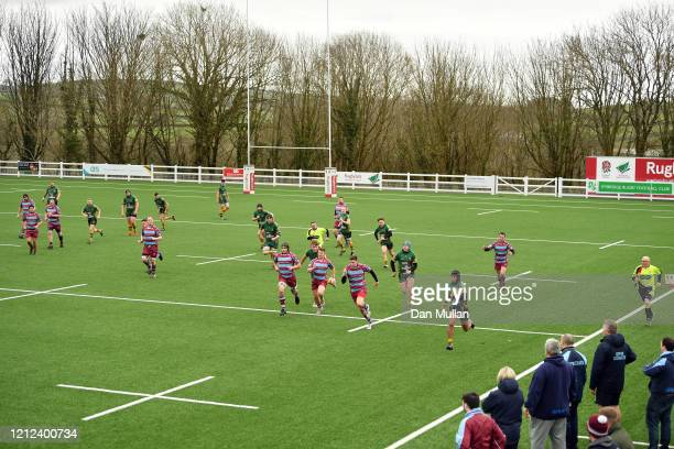 A general view of play during the Lockie Cup Semi Final match between Old Plymouthian and Mannameadians and Plymstock Albion Oaks at Ivybridge Rugby...
