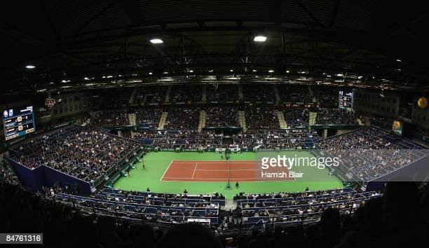 A general view of play during the match between Grigor Dimitrov of Bulgaria and Rafael Nadal of Spain during day four of the ABN AMRO World Tennis...