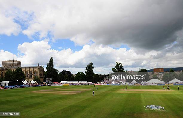 General view of play during the Natwest T20 Blast match between Gloucestershire and Essex at The College Ground on July 17 2016 in Cheltenham England