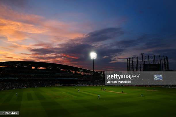 General view of play during the NatWest T20 Blast match between Surrey and Essex Eagles at The Kia Oval on July 19, 2017 in London, England.