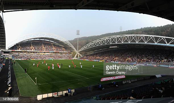 General view of play during the npower League One match between Huddersfield Town and Charlton Athletic at Galpharm Stadium on March 24 2012 in...