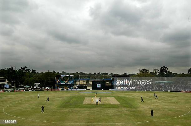 A general view of play during the One Day International played betweeen Australia and Pakistan held at Gymkhana Nairobi Kenya on August 30 2002
