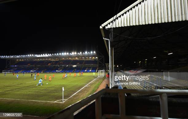 General view of play during the Papa John's Trophy match between Peterborough United and Portsmouth on January 12, 2021 in Peterborough, England....
