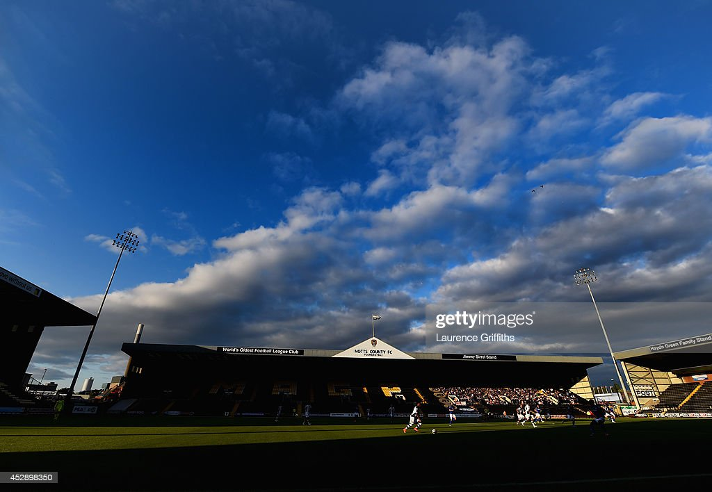 A general view of play during the Pre Season Friendly match between Notts County and Birmingham City at Meadow Lane on July 29, 2014 in Nottingham, England.