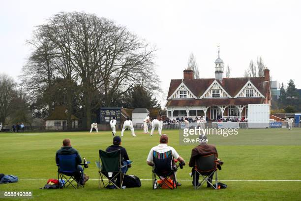 General view of play during the pre season match between Oxford MCCU and Surrey in the Parks on March 28, 2017 in Oxford, England.