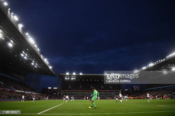 General view of play during the Premier League match between Aston Villa and Liverpool FC at Villa Park on November 02 2019 in Birmingham United...